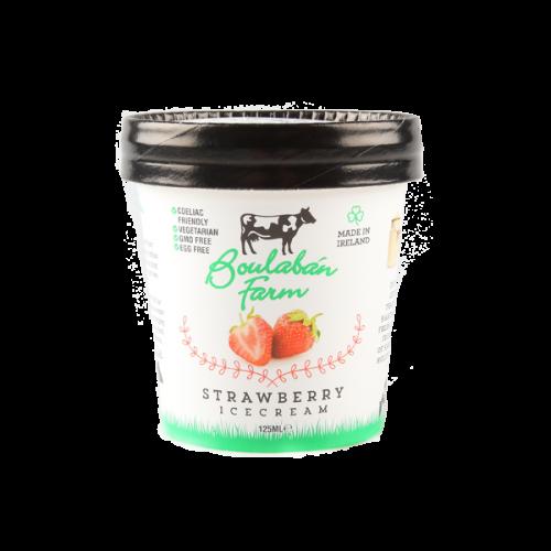 Boulaban Farm Strawberry Ice Cream 125 ml Tubs x 20