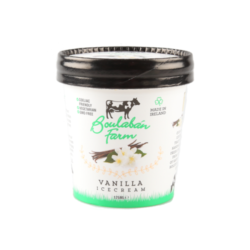 Boulaban Farm Vanilla Ice Cream 125 ml Tubs x 20