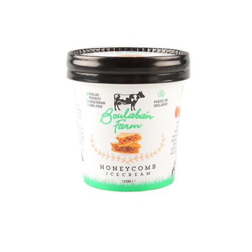 Boulaban Farm Honeycomb Ice Cream 125ml tub x 20